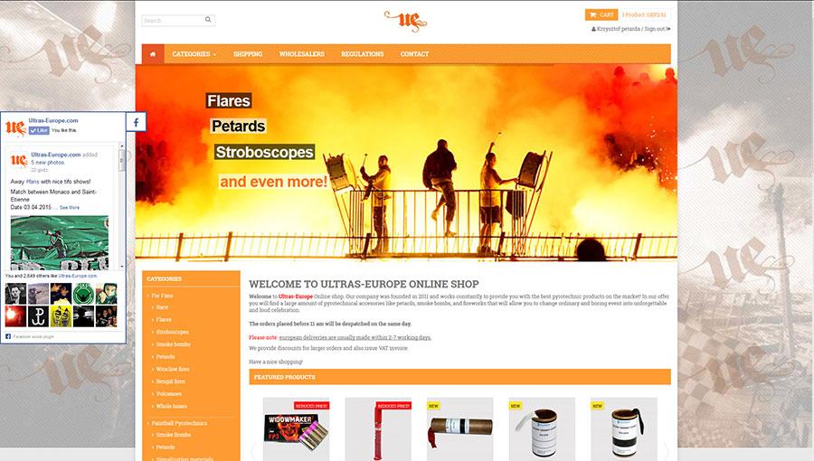 ultras europe new shop