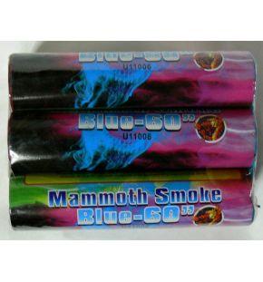 Smoke bomb blue