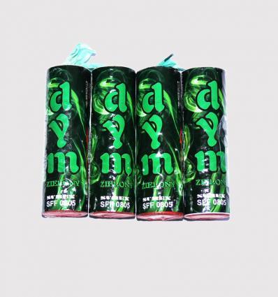 Green smoke bombs