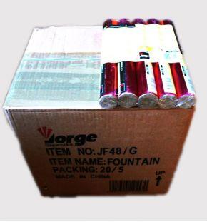 sarkans uzliesmojums JF48 / R Carton. 20 iepakojumi